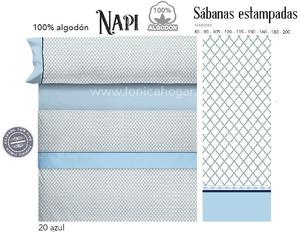 Juego Sabanas NAPI Azul de Cañete