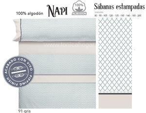 Juego Sabanas NAPI Gris de Cañete