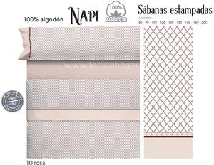 Juego Sabanas NAPI Rosa de Cañete