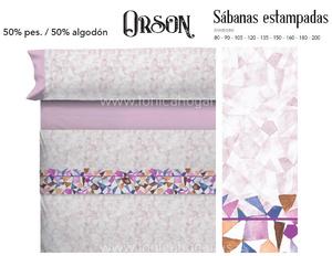Juego Sabanas ORSON Lila de Cañete