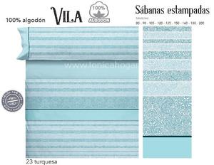 Juego Sabanas VILA Turquesa de Cañete