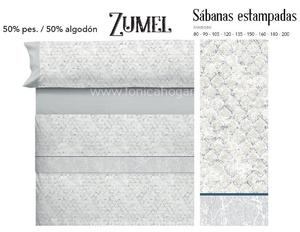 Juego Sabanas ZUMEL Azul de Cañete