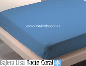 Sábana Bajera Tacto Coral LISA Azul Marino de Cañete
