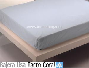 Sábana Bajera Tacto Coral LISA Azul de Cañete