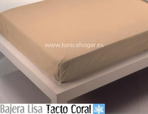 Sábana Bajera Tacto Coral LISA Beig de Cañete