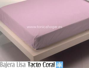 Sábana Bajera Tacto Coral LISA Lila de Cañete