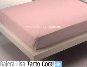 Sábana Bajera Tacto Coral LISA Rosa de Cañete