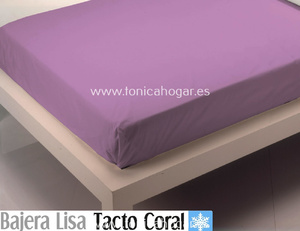 Sábana Bajera Tacto Coral LISA Violeta de Cañete
