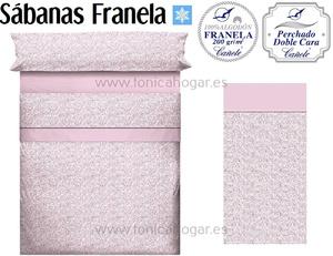 Sábanas Franela APRIL Rosa de Cañete