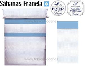 Sábanas Franela KATEL Azul de Cañete