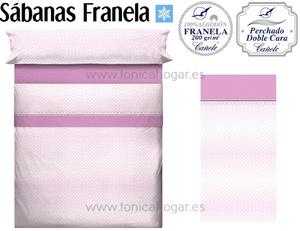 Sábanas Franela KATEL Rosa de Cañete